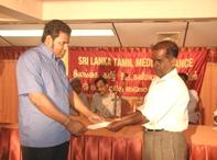 Tsunami Donation_to_Veerakesari_Journalist
