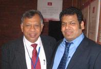 Sethuruban with UNP politician Jeyalath Jeyawardana