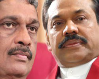 Mahinda Rajaparksa and Sarath Fonseka