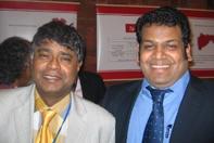 Sethuruban with SLFP senior member Rajeeva Wijeyasinga